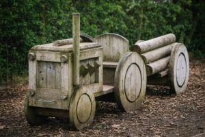 Children's play area tractor at Cedar Farm