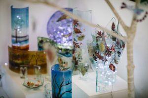 Glass artists at Cedar Farm