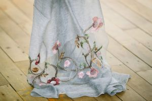 embroidered floral scarf