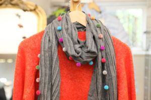 pompom scarf autumn 2018